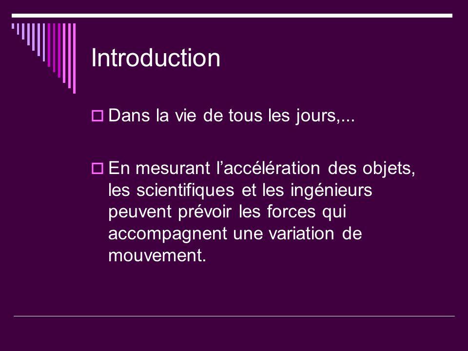 Introduction Dans la vie de tous les jours,...