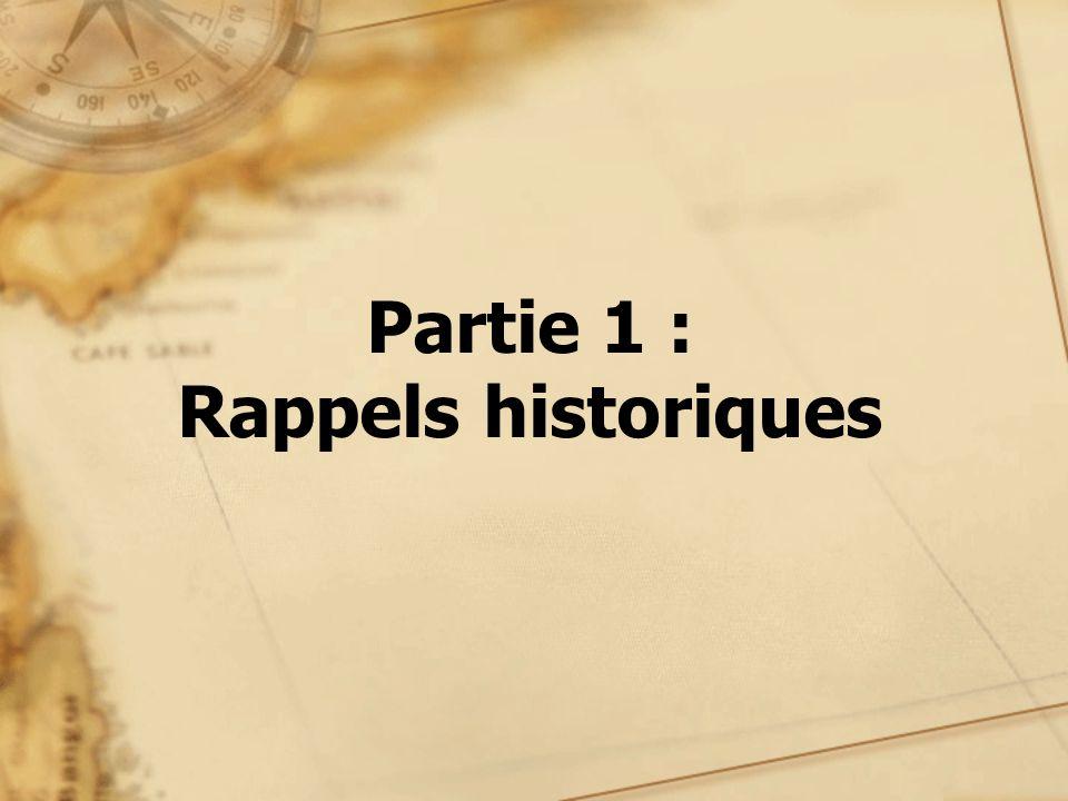 Partie 1 : Rappels historiques