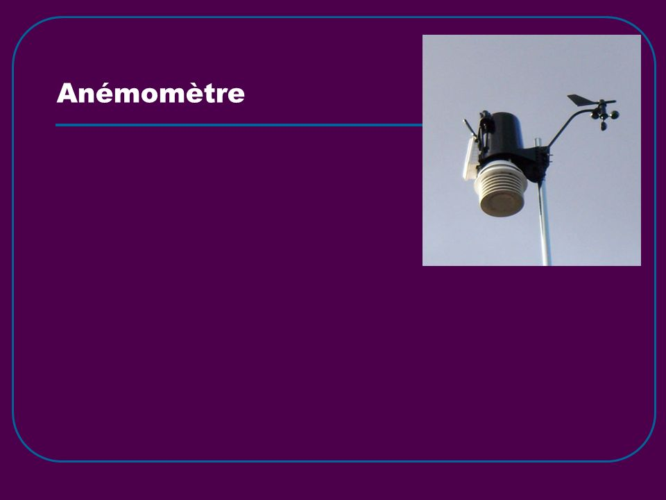 Anémomètre