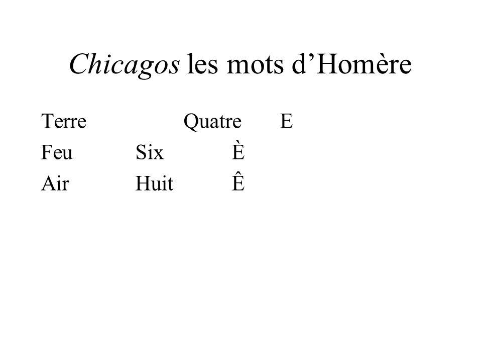 Chicagos les mots dHomère TerreQuatreE FeuSixÈ AirHuitÊ