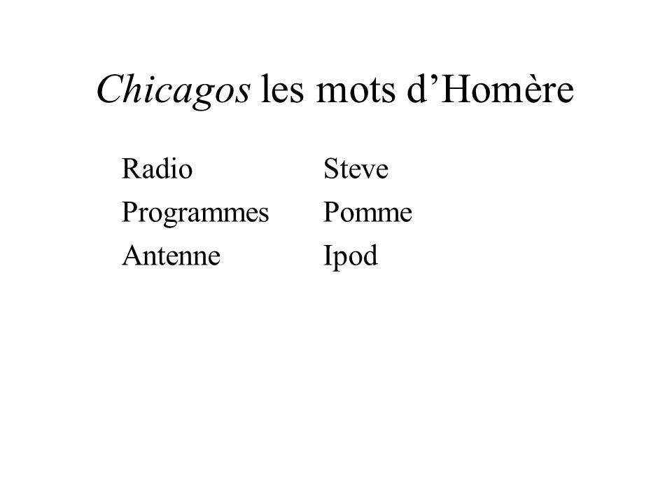 Chicagos les mots dHomère RadioSteve ProgrammesPomme AntenneIpod