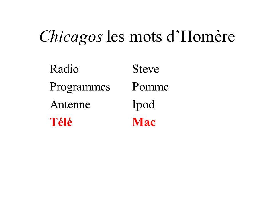 Chicagos les mots dHomère RadioSteve ProgrammesPomme AntenneIpod TéléMac