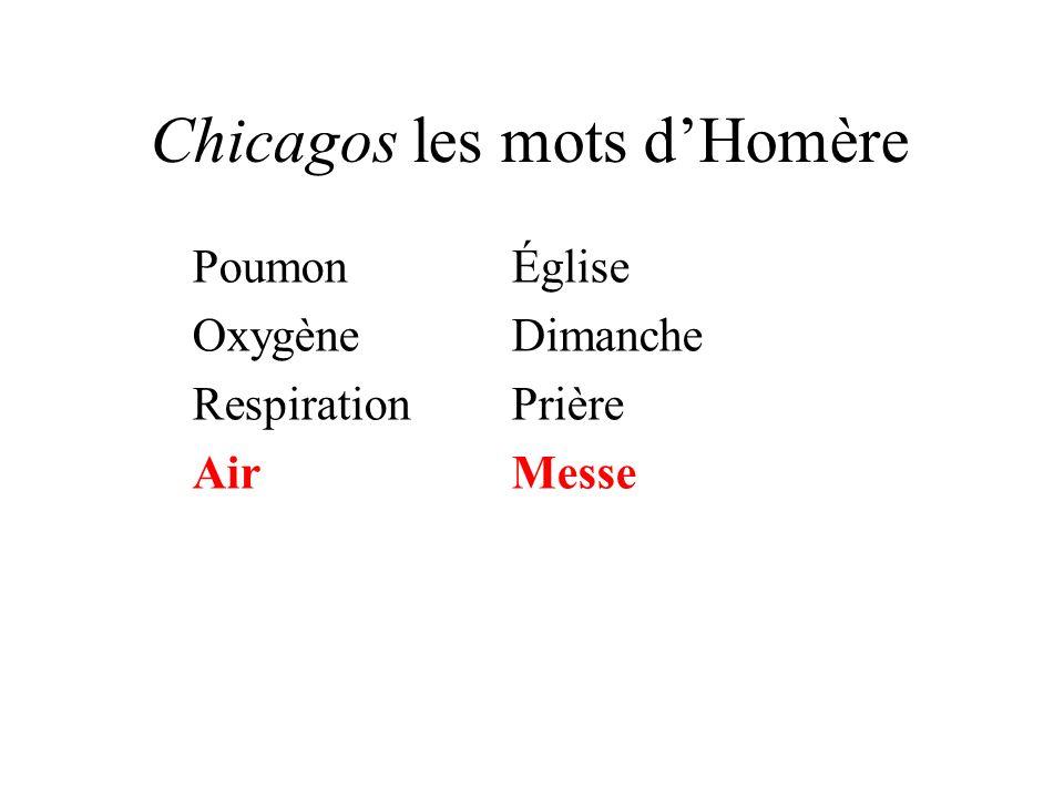 Chicagos les mots dHomère PoumonÉglise OxygèneDimanche RespirationPrière AirMesse