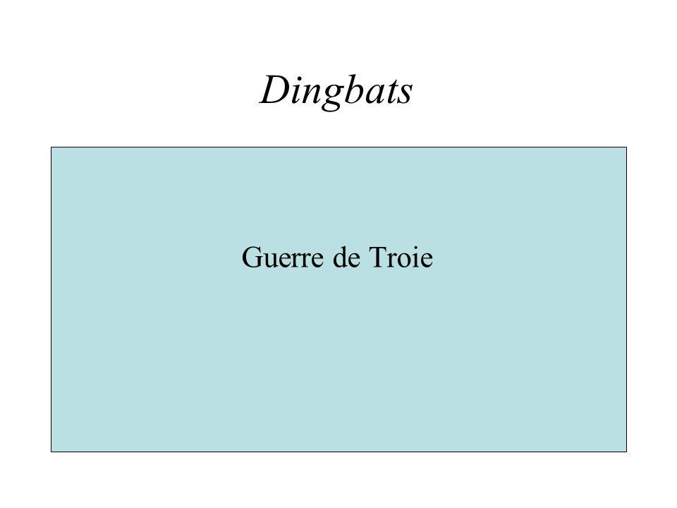 Dingbats Guerre de Troie