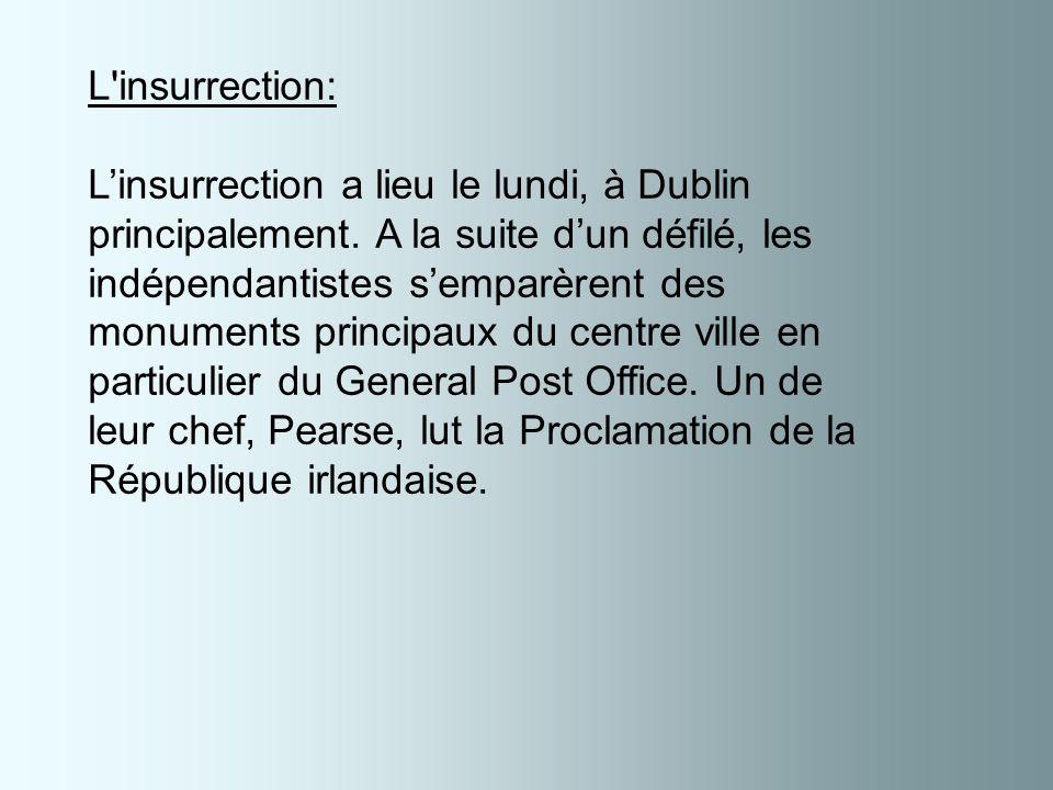 Le General Post Office après linsurrection