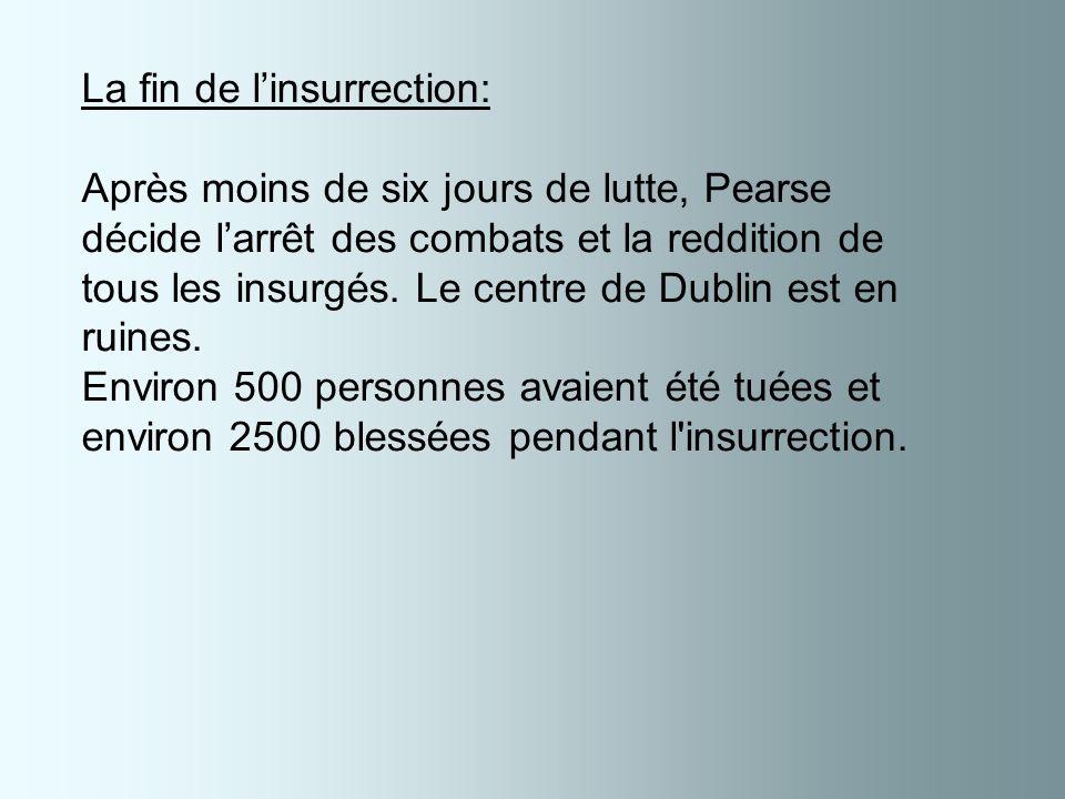 Le centre de Dublin en feu pendant linsurrection.