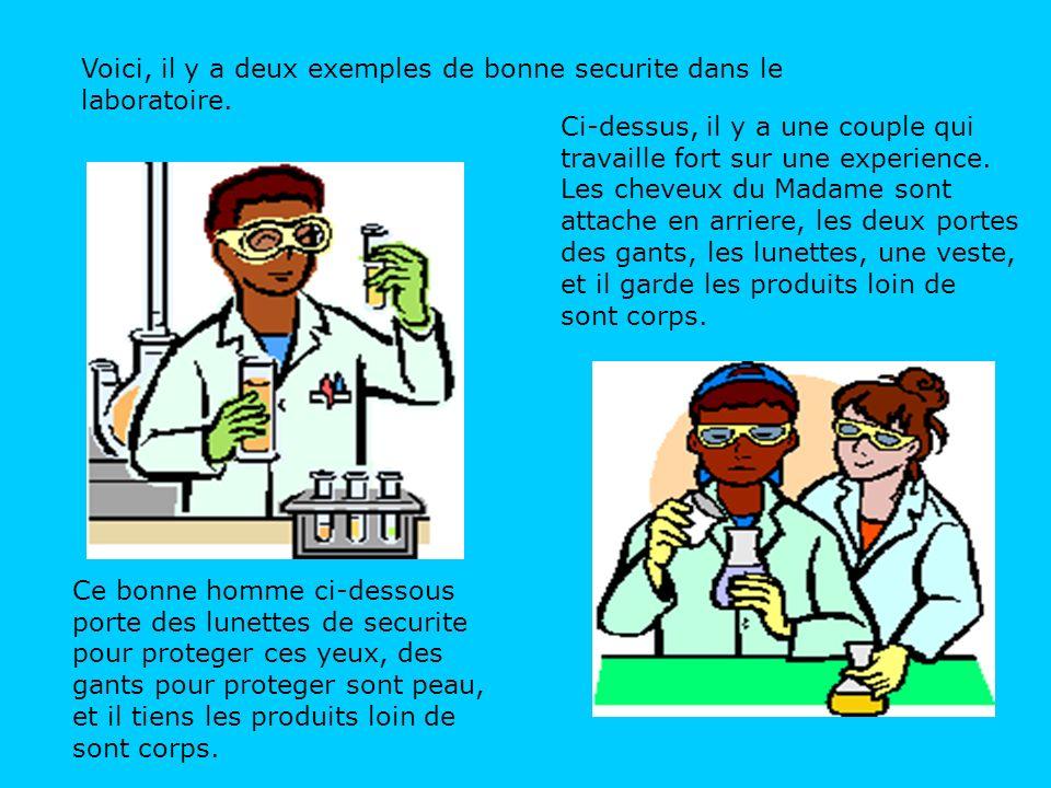 Dans la laboratoire, la nourriture et les boissons ne sont PAS permises.
