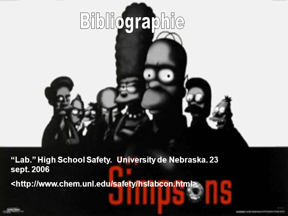 Lab. High School Safety. University de Nebraska. 23 sept. 2006