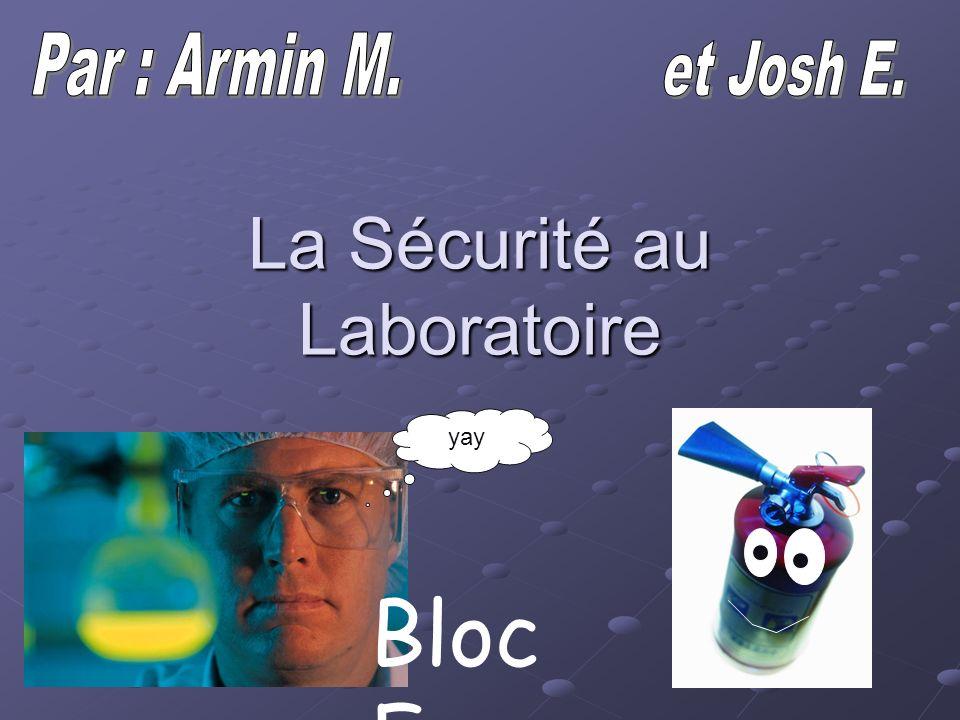 La Sécurité au Laboratoire yay Bloc F