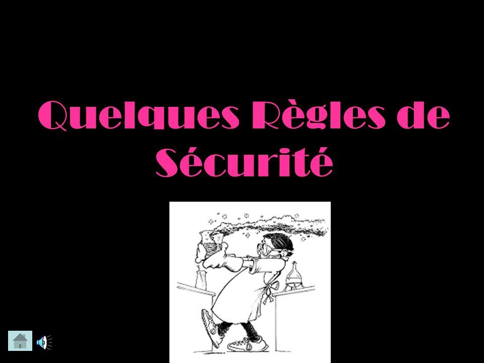 La Securité au Laboratoire Selon une Technicienne de Labo Par: Melody & Pani Soyez certain que vos haut- parleurs sont ouverts et CLIQUEZ SUR LES ICON