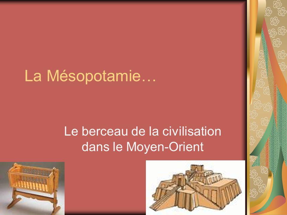 La Mésopotamie… Le berceau de la civilisation dans le Moyen-Orient
