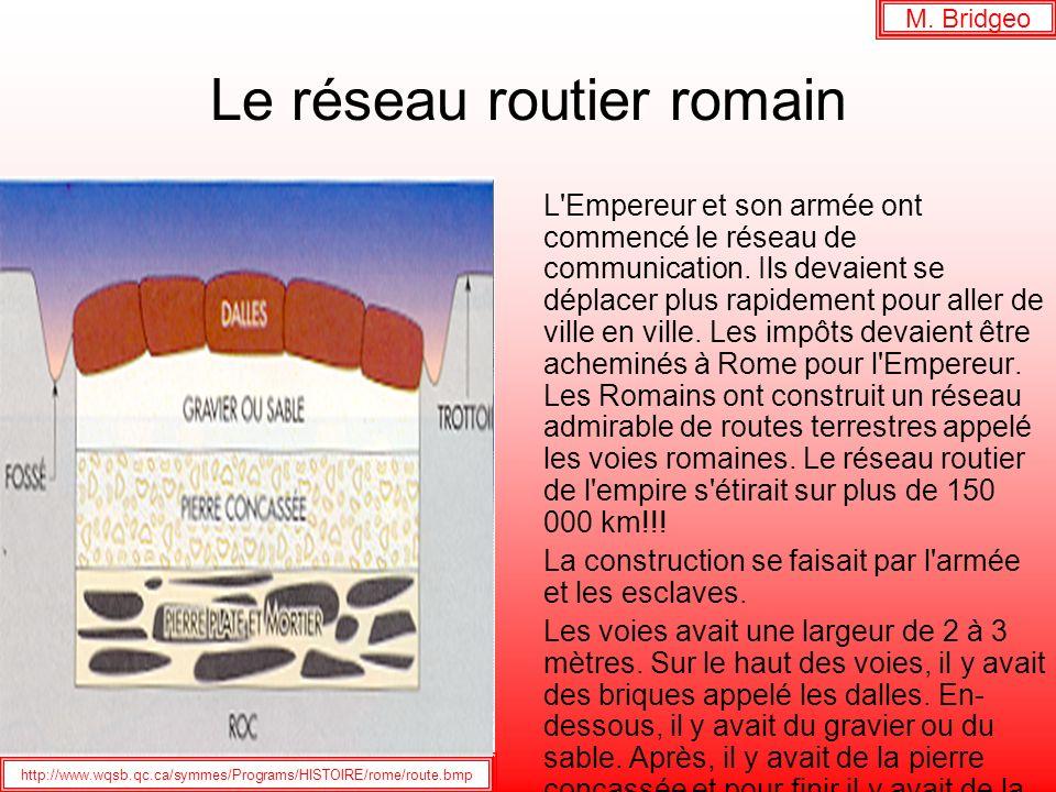 Le réseau routier romain M. Bridgeo L'Empereur et son armée ont commencé le réseau de communication. Ils devaient se déplacer plus rapidement pour all