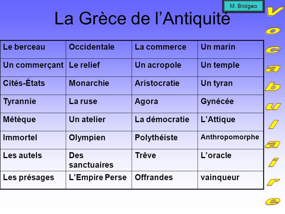 La Grèce de lAntiquité Juste comme on a appris que la Mésopotamie et la civilisation Mésopotamienne était le berceau de la civilisation, la Grèce était le berceau de la civilisation occidentale.