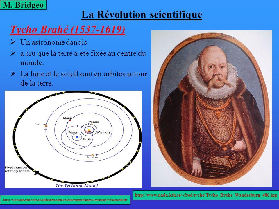 La Révolution scientifique Tycho Brahé (1537-1619) Un astronome danois a cru que la terre a été fixée au centre du monde. La lune et le soleil sont en
