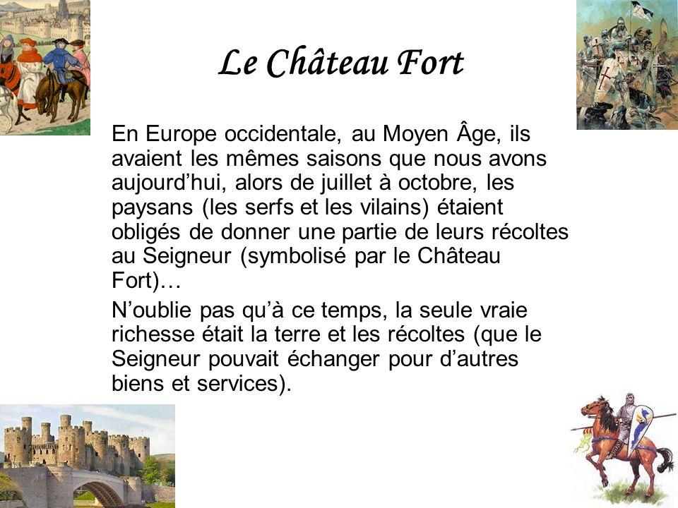 Le Château Fort En Europe occidentale, au Moyen Âge, ils avaient les mêmes saisons que nous avons aujourdhui, alors de juillet à octobre, les paysans