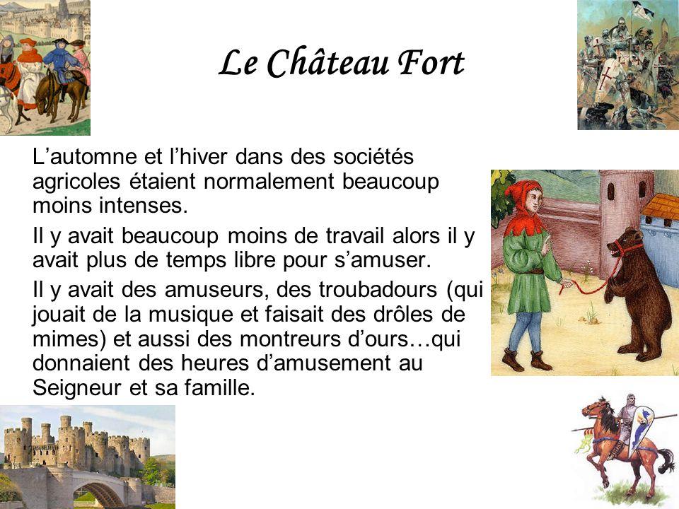Le Château Fort Lautomne et lhiver dans des sociétés agricoles étaient normalement beaucoup moins intenses. Il y avait beaucoup moins de travail alors