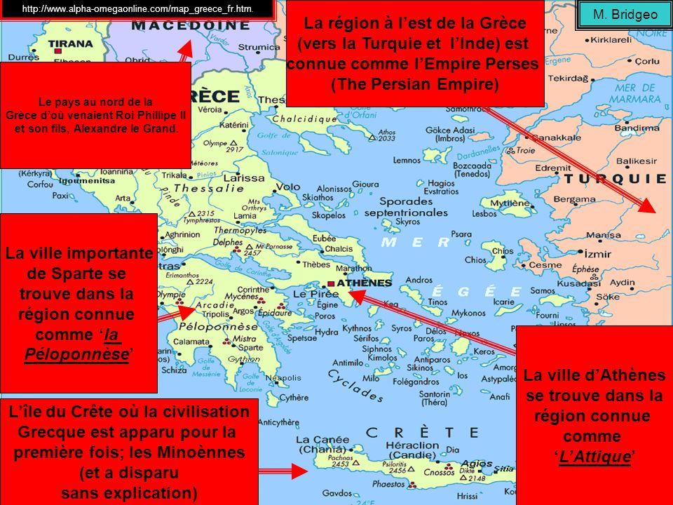2 3 4 5 6 7 8 9 10 11 12 13 14 M. Bridgeo http://www.alpha-omegaonline.com/map_greece_fr.htm.