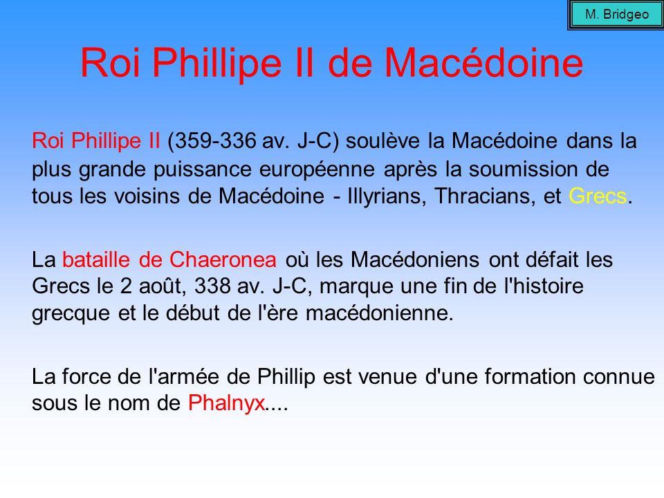Roi Phillipe II de Macédoine Roi Phillipe II (359-336 av. J-C) soulève la Macédoine dans la plus grande puissance européenne après la soumission de to