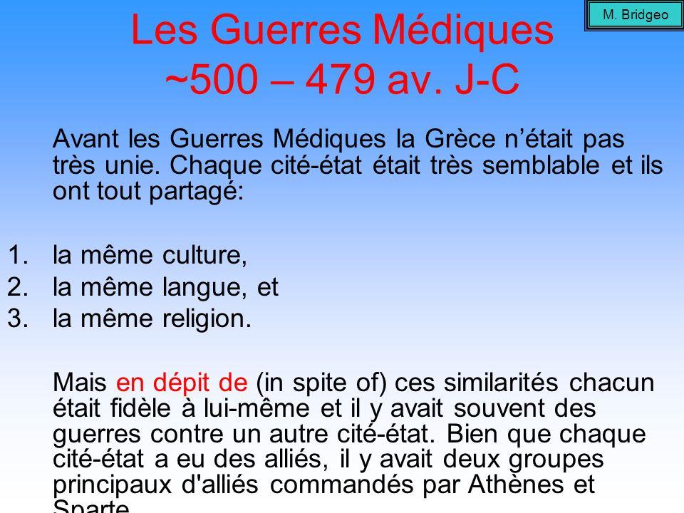Les Guerres Médiques ~500 – 479 av.