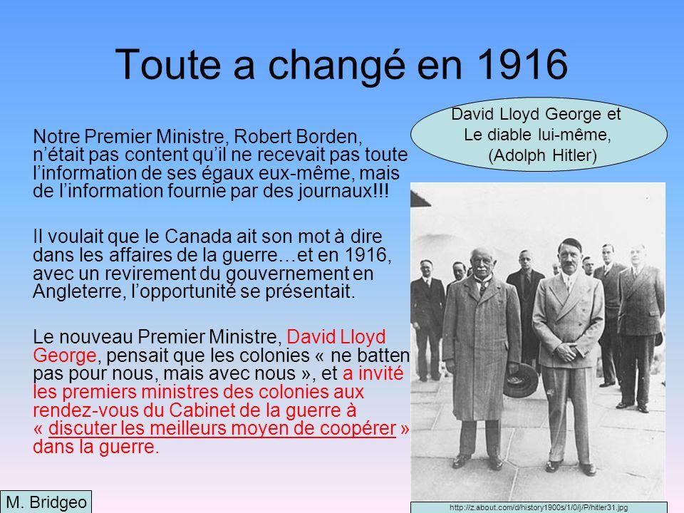 L évolution de notre identité Alors, pour la première fois, le Canada était considéré comme un « égal » avec des autres pays du monde, des puissances mondiales.