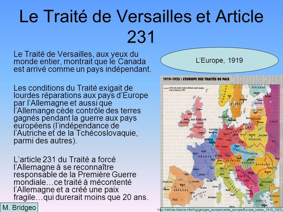 Larmistice et la paix LArmistice, ou laccord qui a mis fin à la guerre était signé le 11 novembre, 1918.