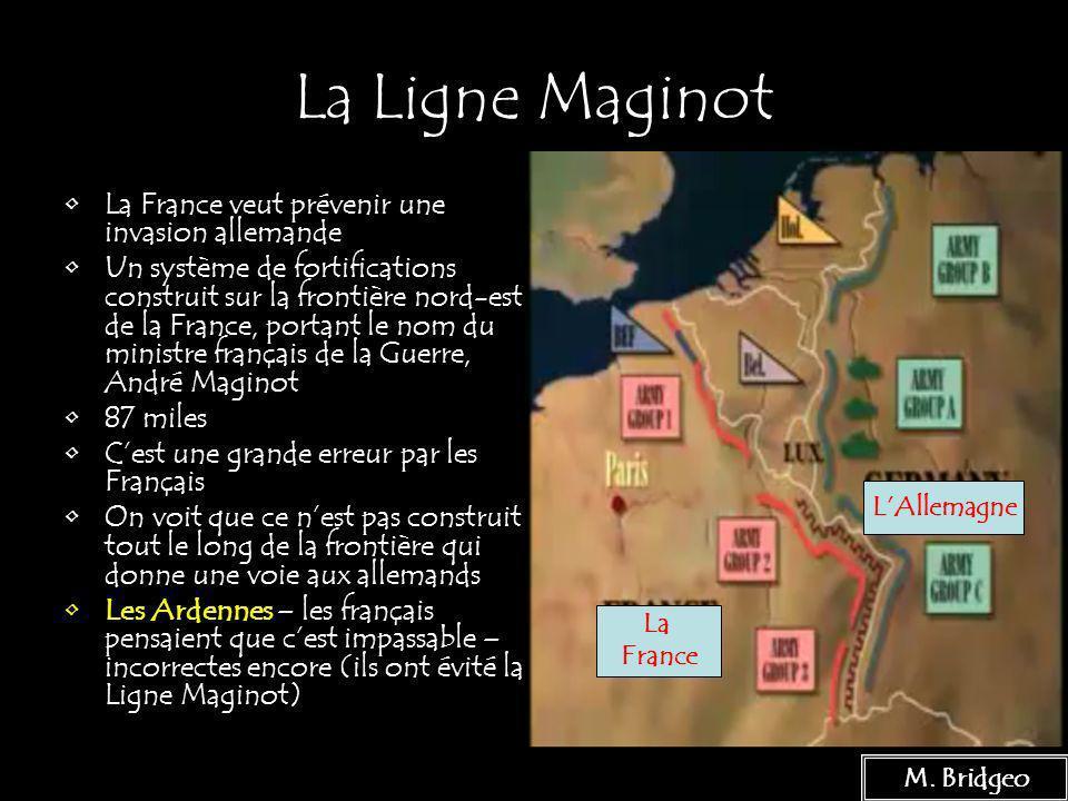 6 La Ligne Maginot La France veut prévenir une invasion allemande Un système de fortifications construit sur la frontière nord-est de la France, porta