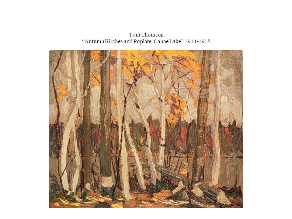 Tom Thomson Autumn Birches and Poplare, Canoe Lake 1914-1915