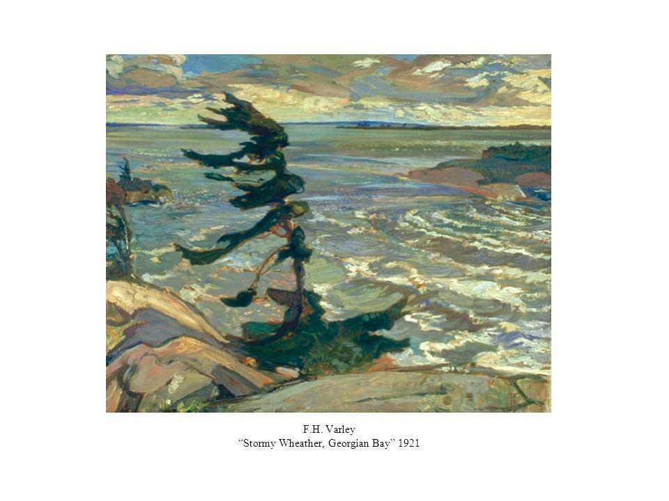 F.H. Varley Stormy Wheather, Georgian Bay 1921