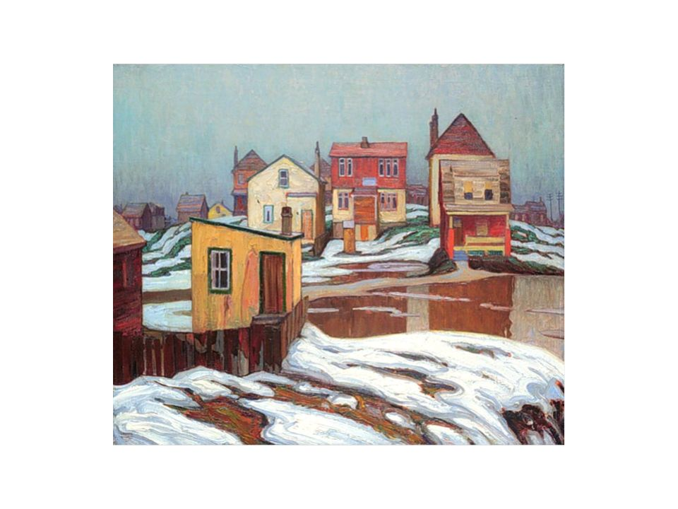 Village in the Laurentians Mountains Clarence Gagnon