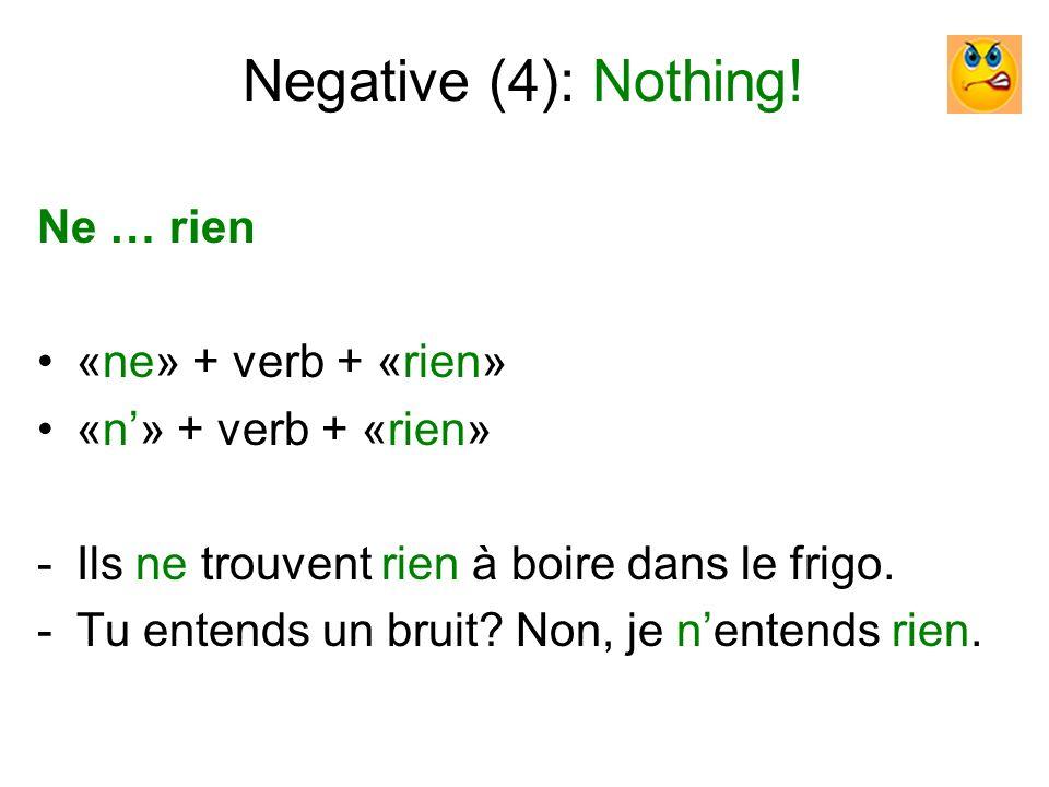 Negative (5): Nobody.