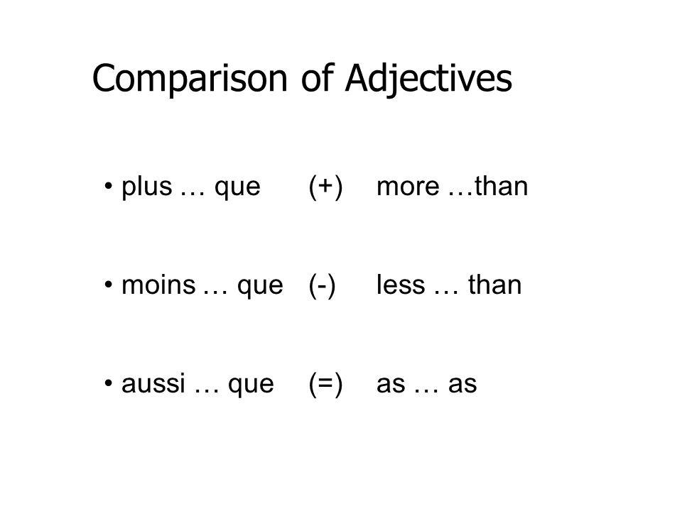 Comparison of Adjectives 474,00 219,00 Le pendentif saphir bleu est plus cher que le pendentif perle lavande.