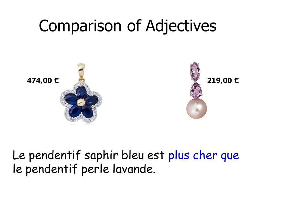 Comparison of Adjectives Yao est plus grande que son amie.