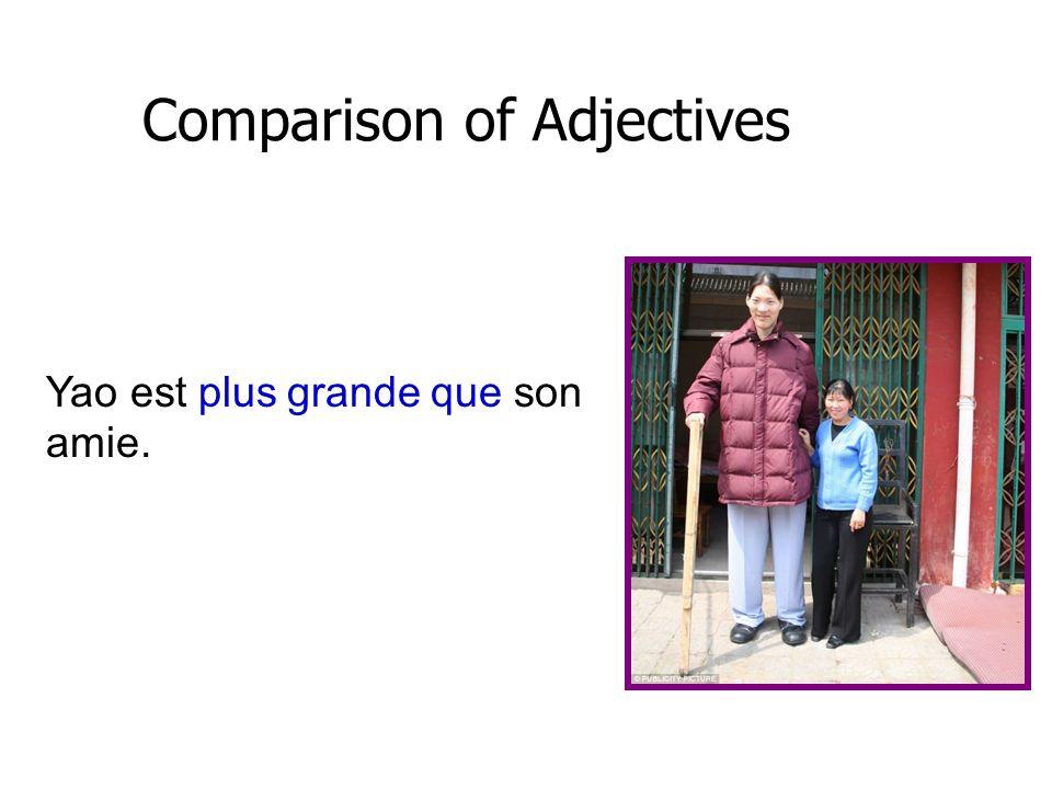 Comparison of Adjectives Les feuilletons à la télé sont moins intéressants que les drames.
