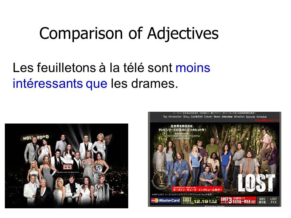 Comparison of Adjectives La vedette Jessica Alba est moins populaire que la vedette Halle Berry.