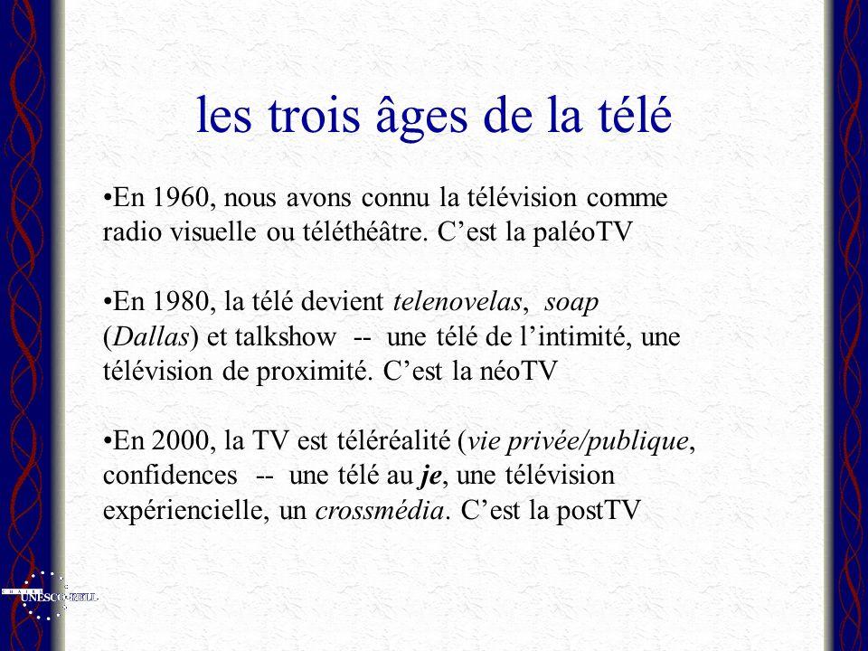les trois âges de la télé En 1960, nous avons connu la télévision comme radio visuelle ou téléthéâtre.