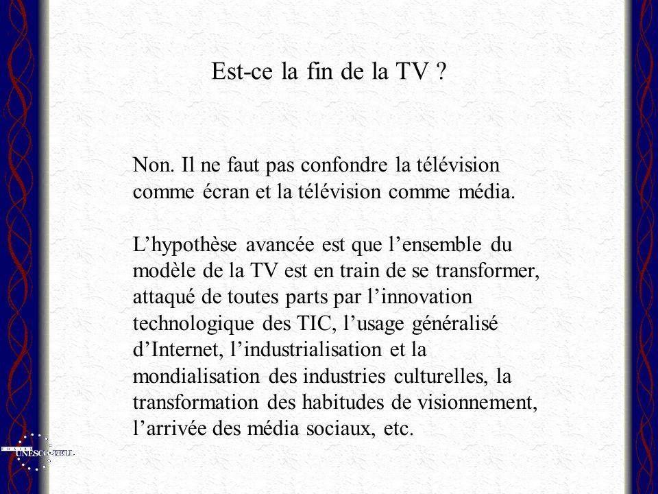 Est-ce la fin de la TV . Non.