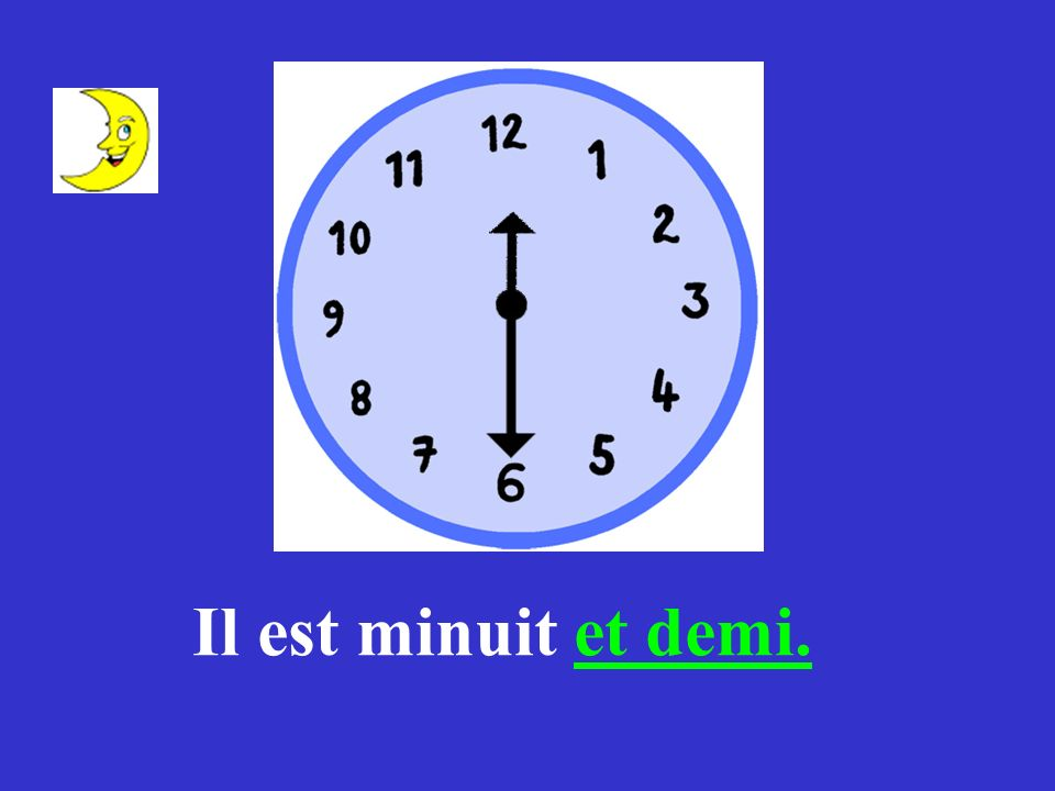 Il est midi et demi.