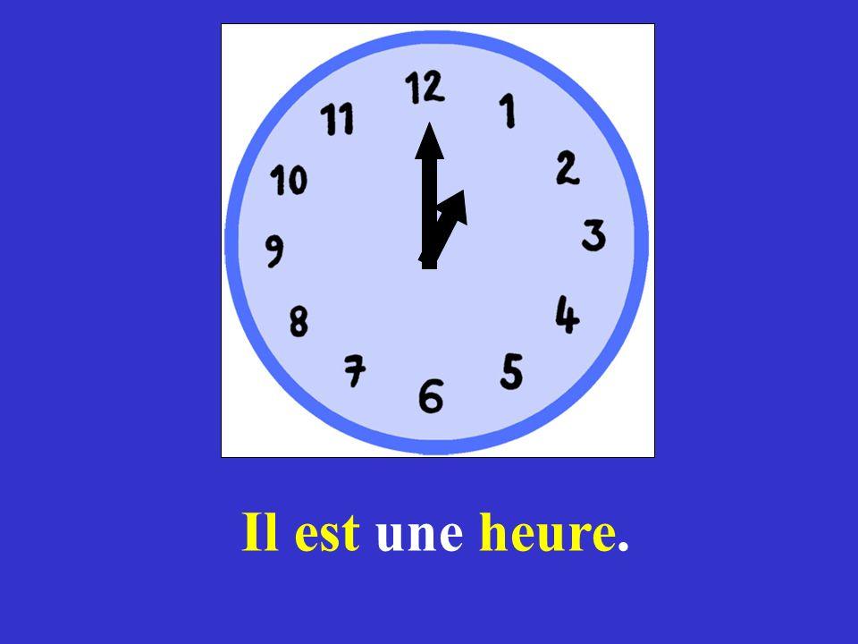 Reprise *Il est quelle heure? *Il est …. heure(s). *Il est midi. *Il est minuit.