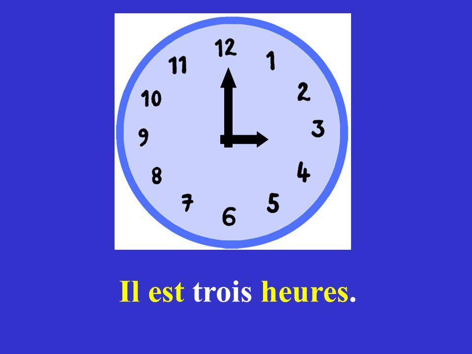 Comment dit-on en français Half past ?