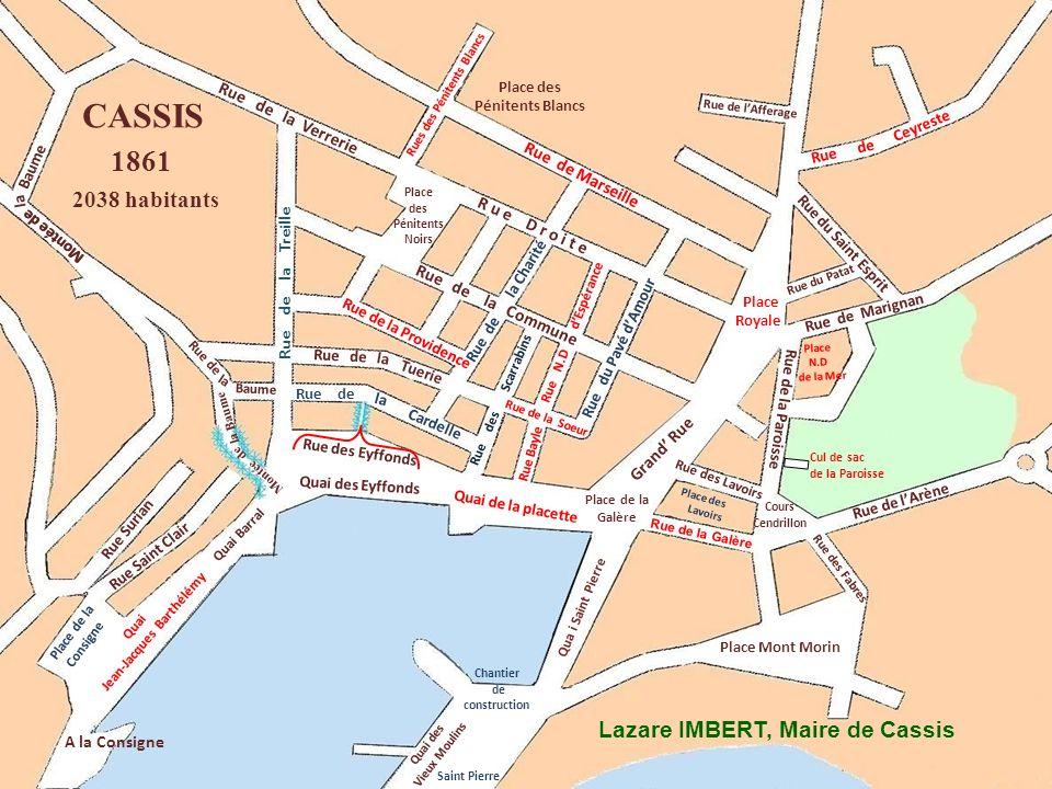 Qua i Saint Pierre Rue de La Ciotat Place des Pénitents Noirs Rue Surian Rue Saint Clair A la Consigne Rue de lArène Place de lEglise Place des Pénite