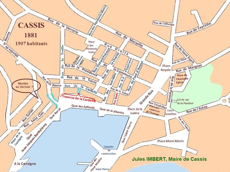 Place Mont Morin Qua i Saint Pierre Rue des Pénitents Noirs Grande Rue Rue de la Treille Cardelle Ruede Rue de Providence Rue de Marseille Rue des Pén
