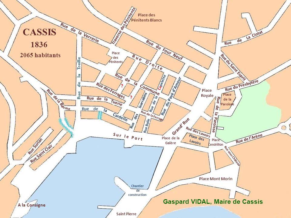 Ba u Rue de La Ciotat Rue du Four Neuf Place Royale Rue Surian Rue Saint Clair A la Consigne Place Mont Morin Rue de lArène Place des Pénitents Blancs