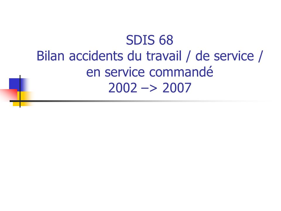 SDIS 68 – Accidents de service Année 2007 – SPP