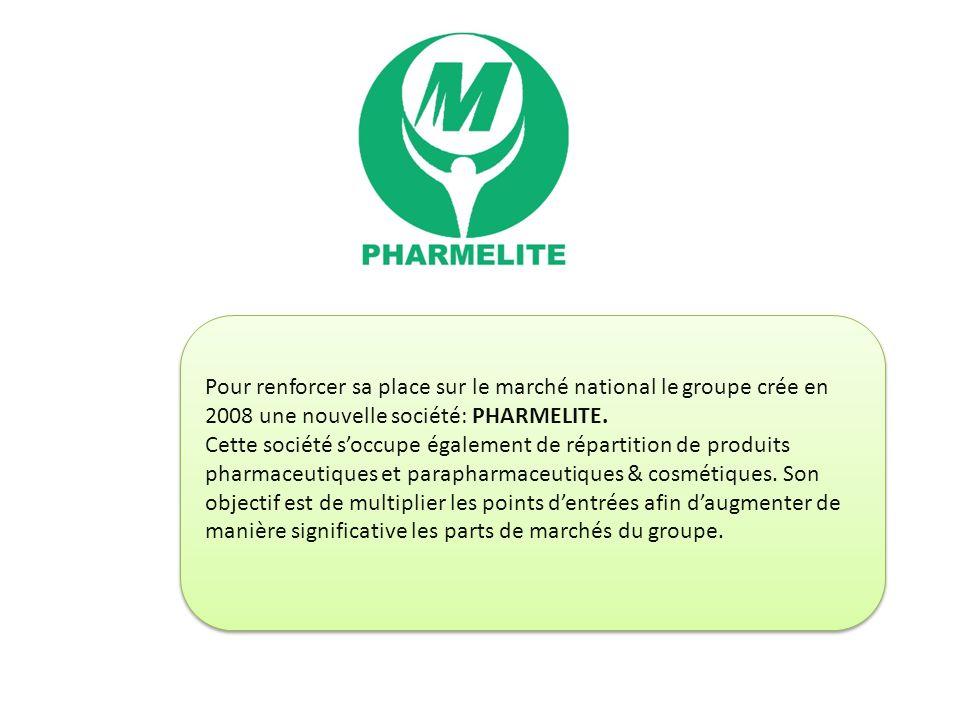 Pour renforcer sa place sur le marché national le groupe crée en 2008 une nouvelle société: PHARMELITE. Cette société soccupe également de répartition