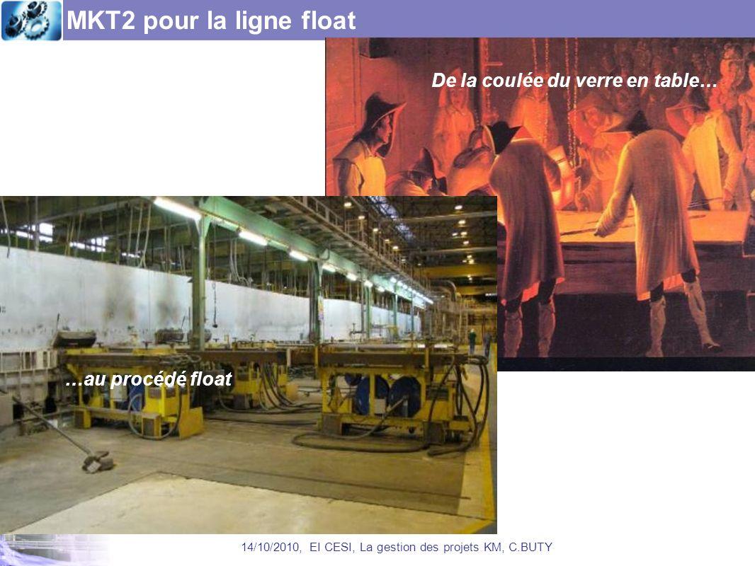 MKT2 pour la ligne float 14/10/2010, EI CESI, La gestion des projets KM, C.BUTY De la coulée du verre en table… …au procédé float