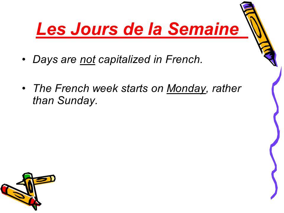 Le Calendrier The Calendar