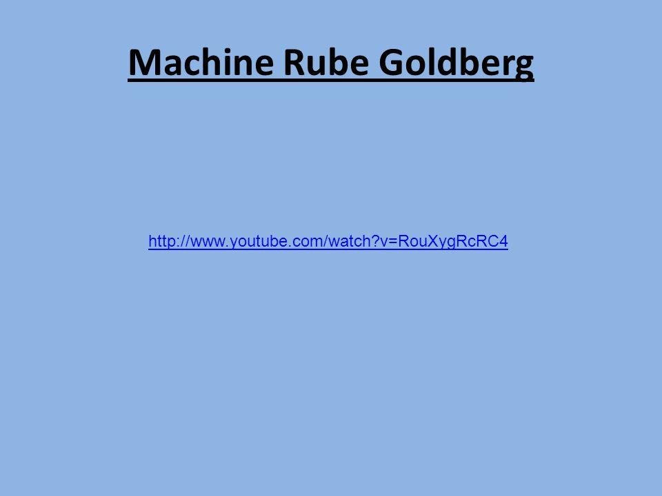 Machine Rube Goldberg http://www.youtube.com/watch?v=RouXygRcRC4