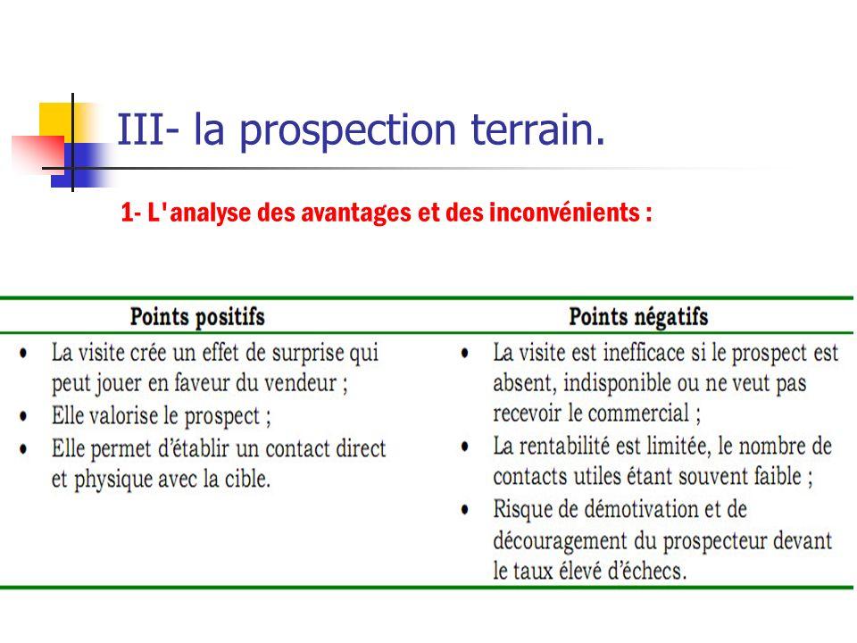 II- objectifs cible et supports de prospection. 3- Les supports de la prospection : Certains modes de prospection sont très utilisés par les entrepris