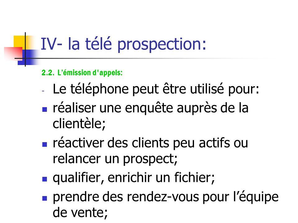 IV- la télé prospection: 2. Les différentes applications: 2.1. La réception d'appels : Grâce à la mise en place d'un numéro vert gratuit, d'un numéro