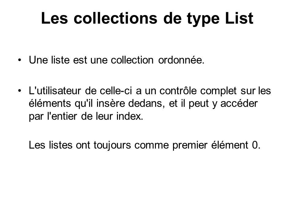 Les listes chaînées : LinkedList Une liste chaînée est une liste dont chaque élément est relié au suivant par une référence à ce dernier.